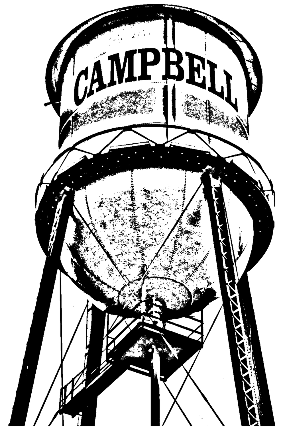 Campbell Watertower Graphic