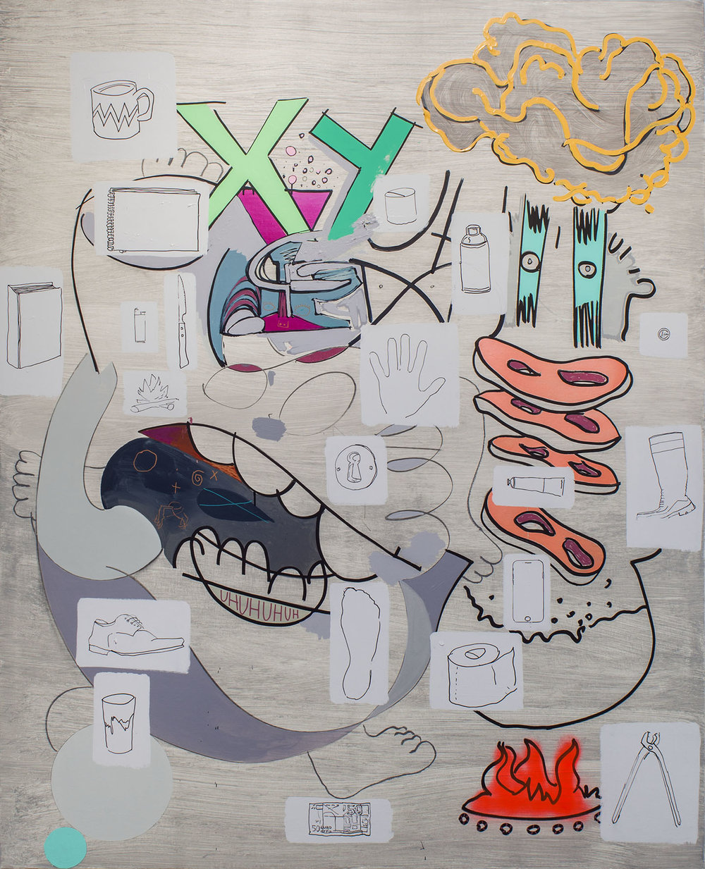 Glups 200x162 mixed on canvas