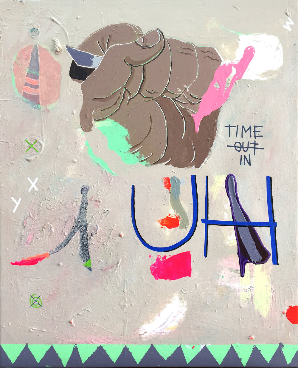 Time In 61x50 mixed on canvas