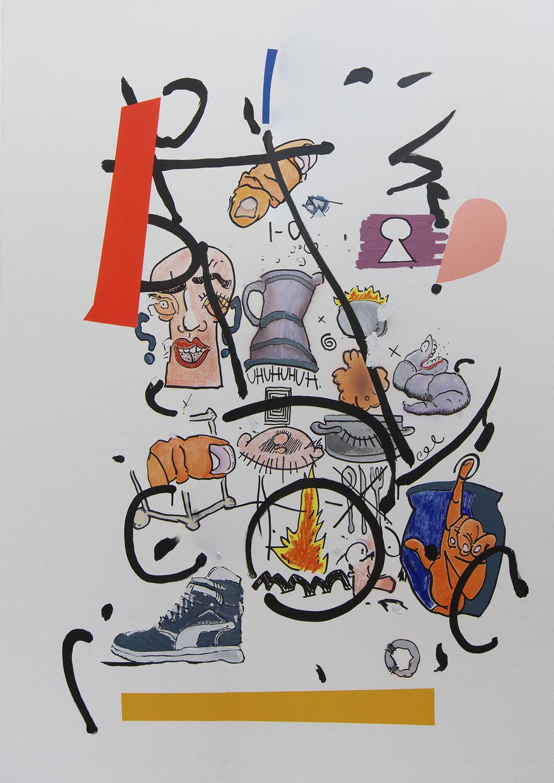 Seneak 195x138 mixed on canvas