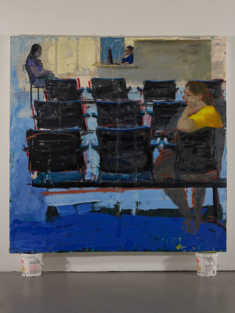 "Waiting Room 2, 72""x72"", oil on canvas, 2013"