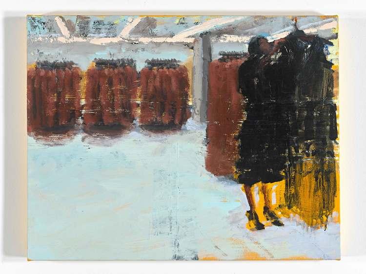 "Black Dress 2, 22""x28"", oil on canvas, 2015"