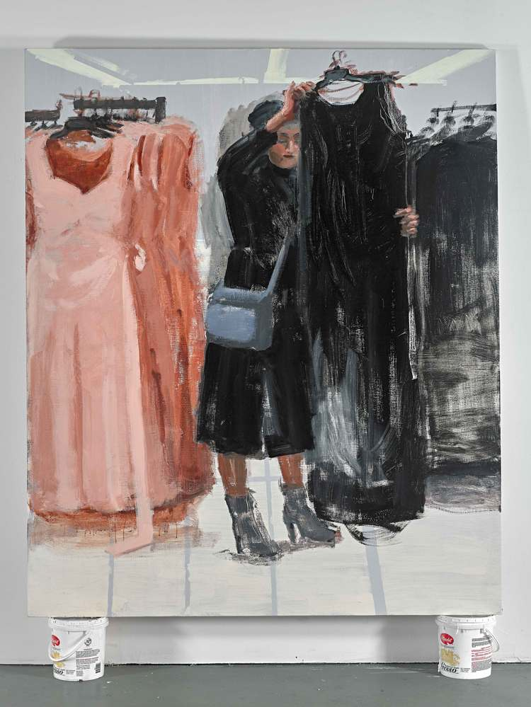 "Black Dress 1, 60""x72"", oil on canvas, 2015"
