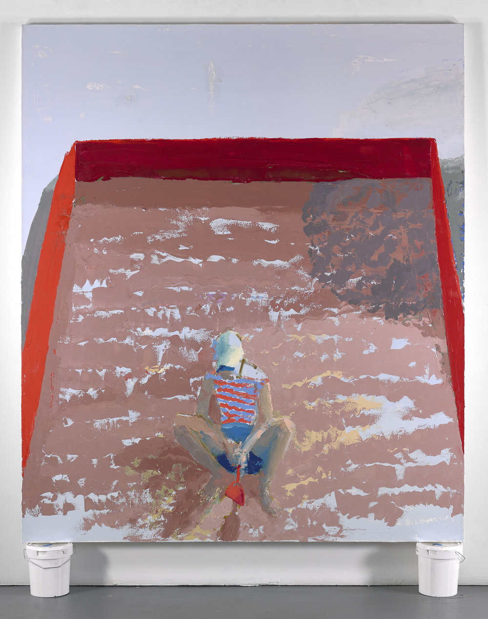 Sandbox, 7'x6', oil on canvas, 2018
