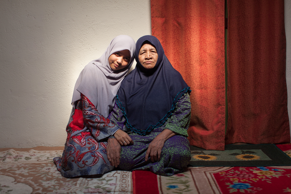 Fatini and her grandmother, Jul 27, 2014.