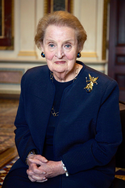Former U.S. Secretary of State, Madeleine Albright.