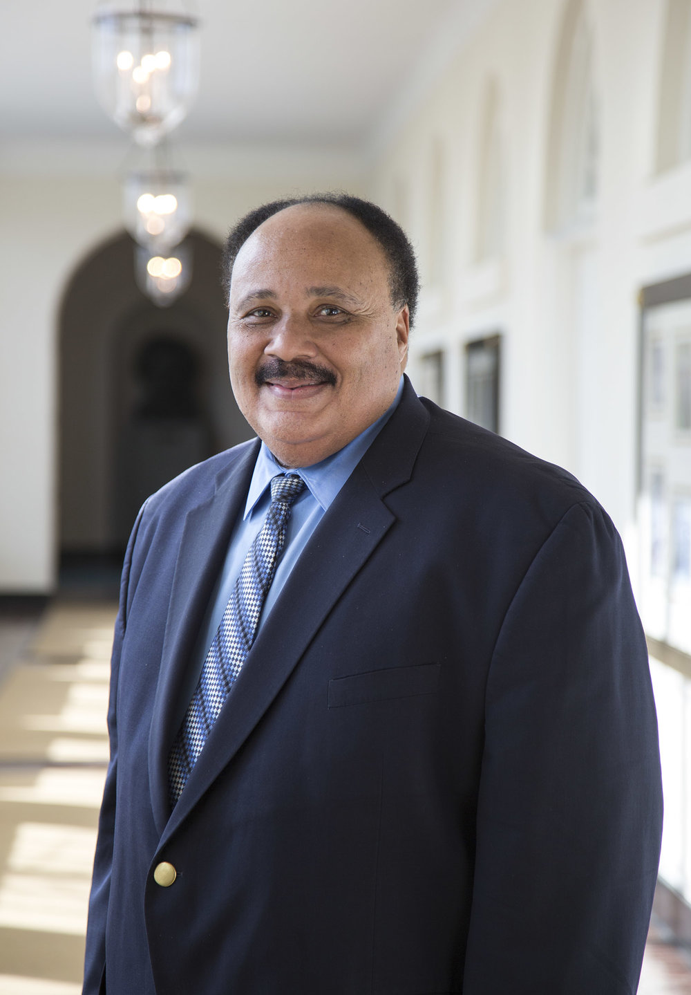 Martin Luther King III in the East Wing of the White House.