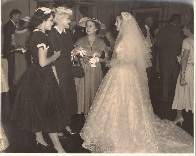 Grandma, on her wedding day: June 12, 1954.