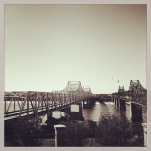 Crossing the Mississippi into Louisiana