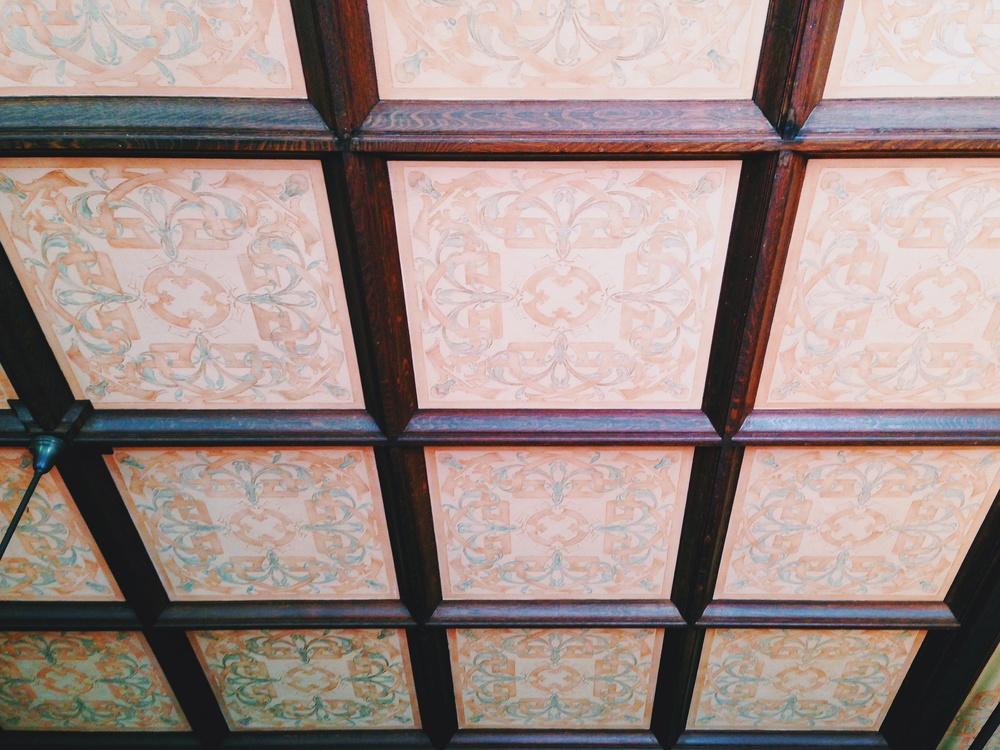 This is the ceiling of the main entrance room.