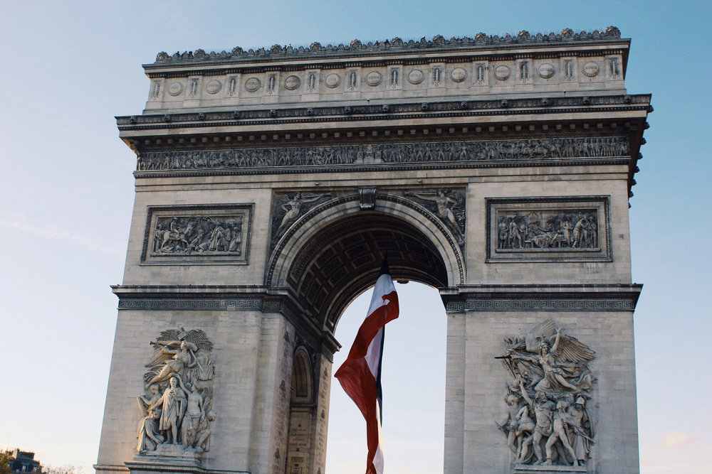 The Arc de Triomphe, a short walk from my old apartment in the 8th.