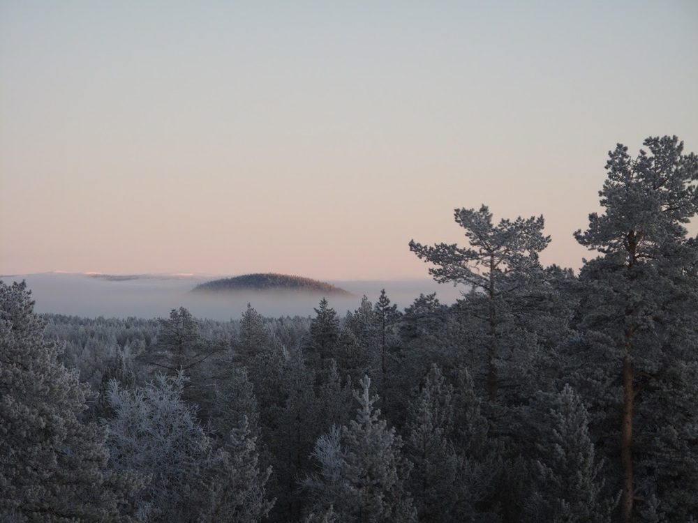 Kiruna, Sweden in January.