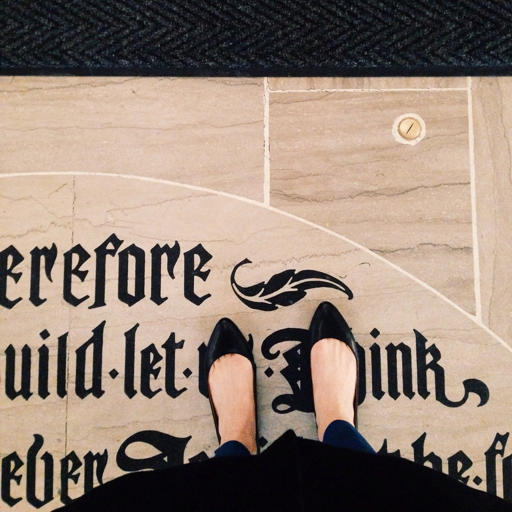The floor of the Chicago Tribune building.
