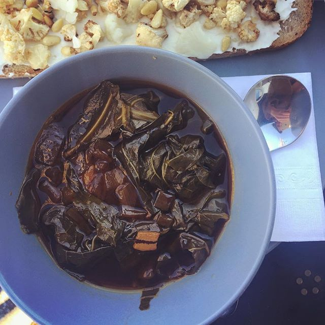 Nothing hits the spot quite like a hot bowl of braised collards & potlikker on a cool day.