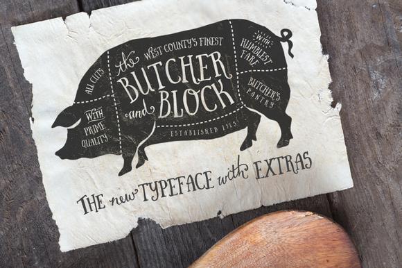 BUTCHER & BLOCK FONT