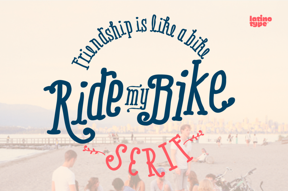 RIDE MY BIKE TYPEFACE