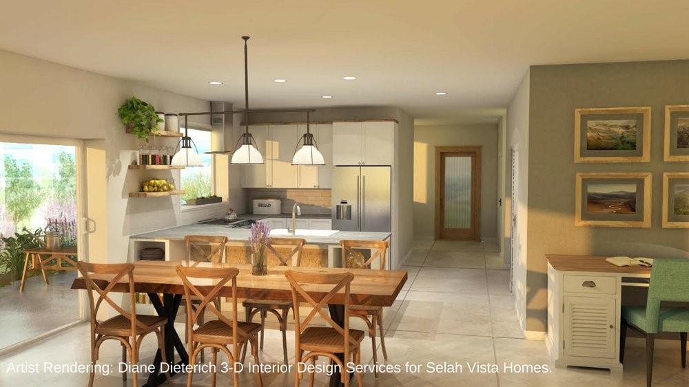 Selah Vista Homes Kitchen. Artist Rendering. Diane Dieterich 3-D Interior Design Services..jpg