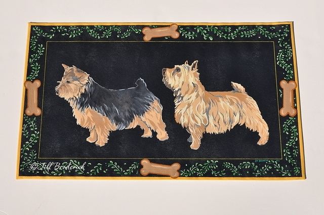 "NORWICH TERRIERS - ACRYLIC ON CANVAS - 30"" X 42"""