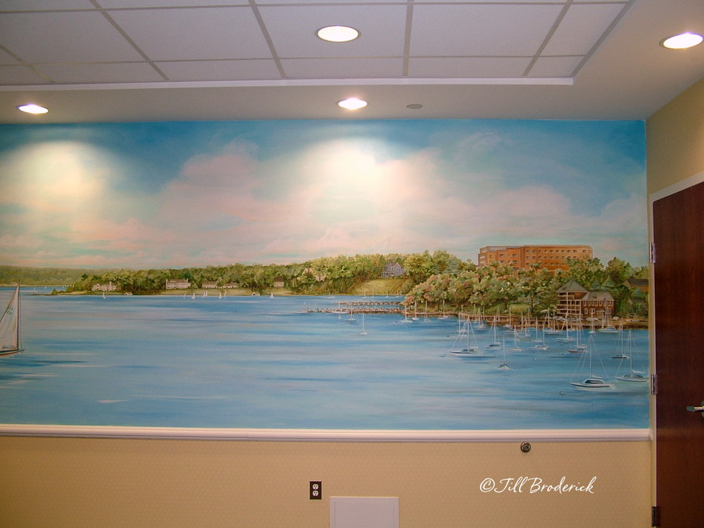 VNA OF CENTRAL JERSEY, RED BANK, NJ - RIVER VIEW MURAL DETAIL