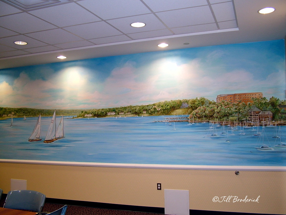 VNA OF CENTRAL JERSEY, RED BANK, NJ - RIVER VIEW MURAL - 6' H X 24' W - ACRYLIC