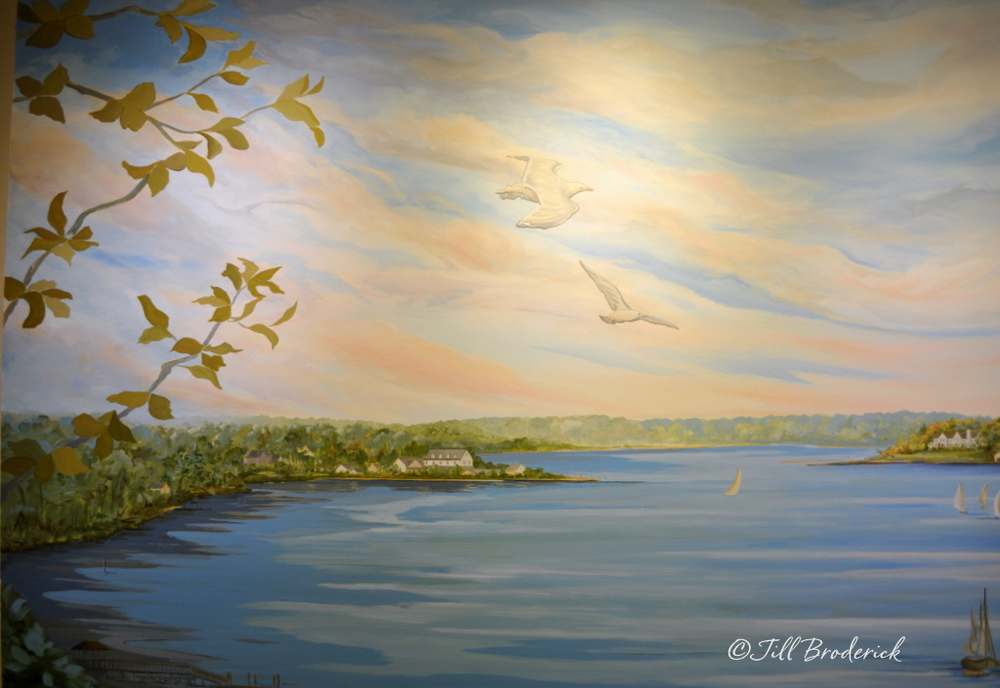 UROLOGY ASSOCIATES, SHREWSBURY, NJ - NAVESINK VIEW - MURAL DETAIL - ACRYLIC