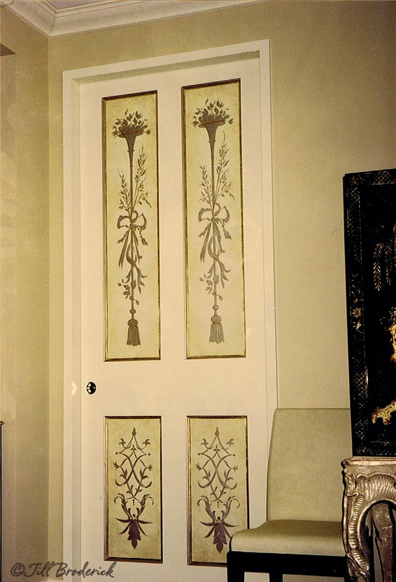 POCKET DOOR - GILDED AND ANTIQUED MOTIF