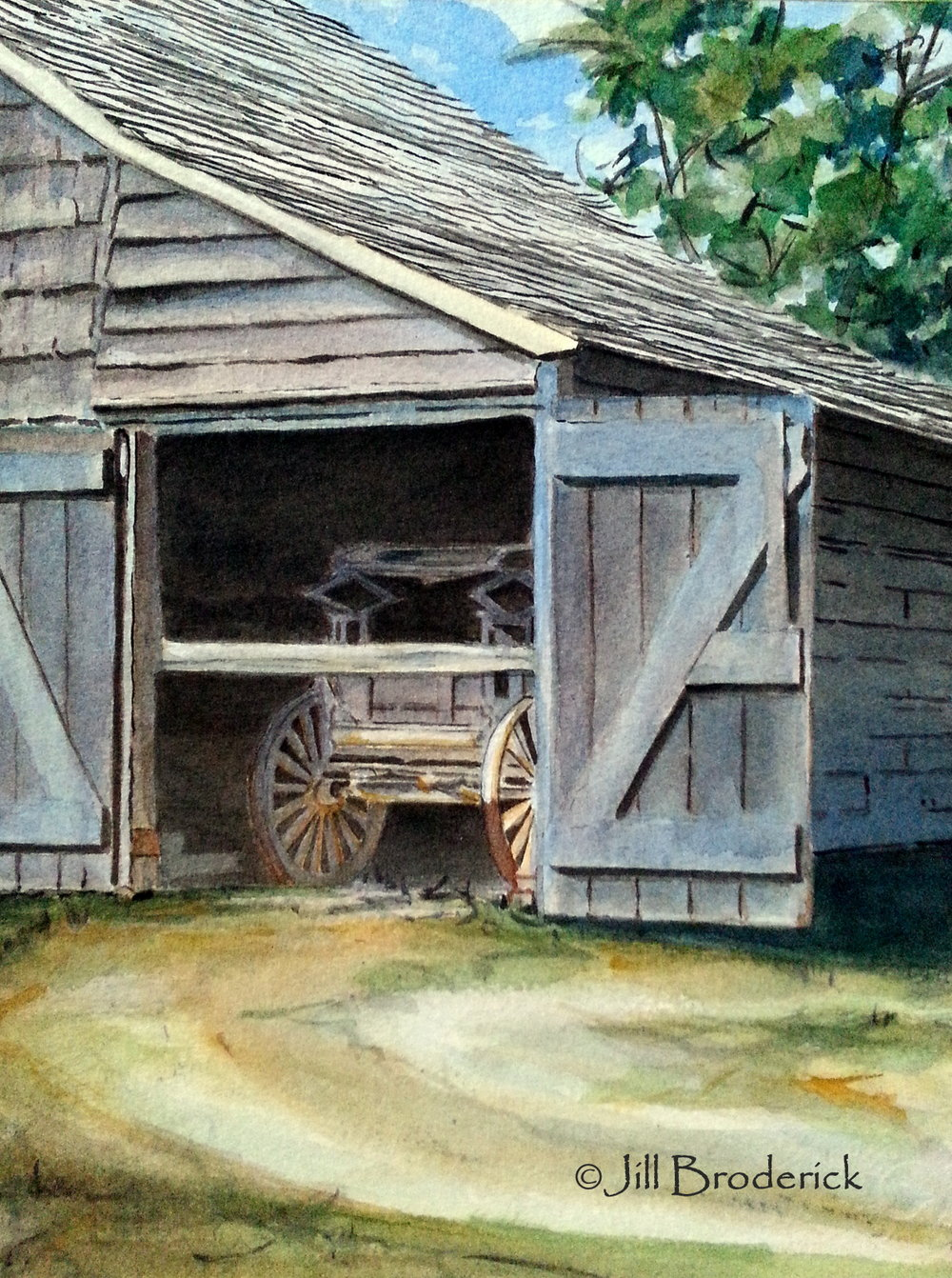 "GARAGE KEPT - WATERCOLOR  7 1/2"" x 10"""