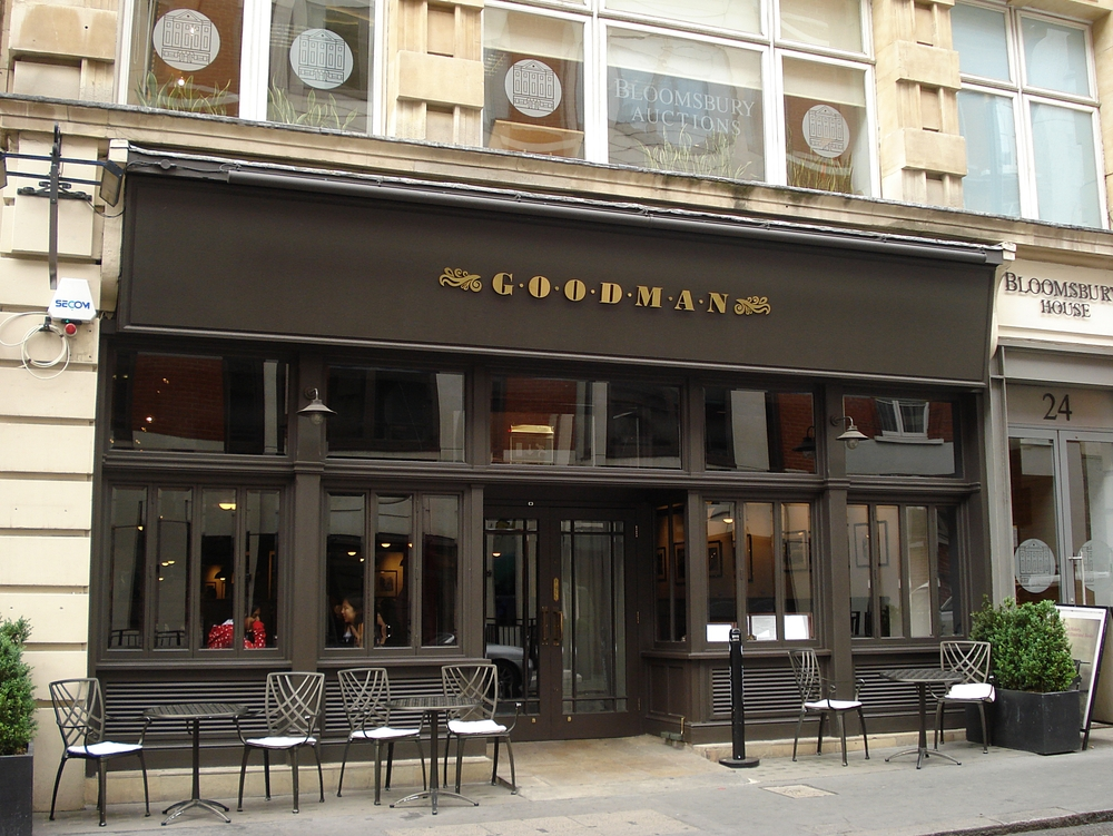 "Goodman  -  SCORE: 77/100 ""Great steak at decent prices, it is a combination that has justly led to the Goodman name being at the forefront of the London steak restaurant scene."" Click to read the review..."