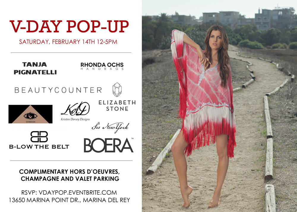 Jewelry V-Day Pop Up Shopping Event in Marina Del Rey