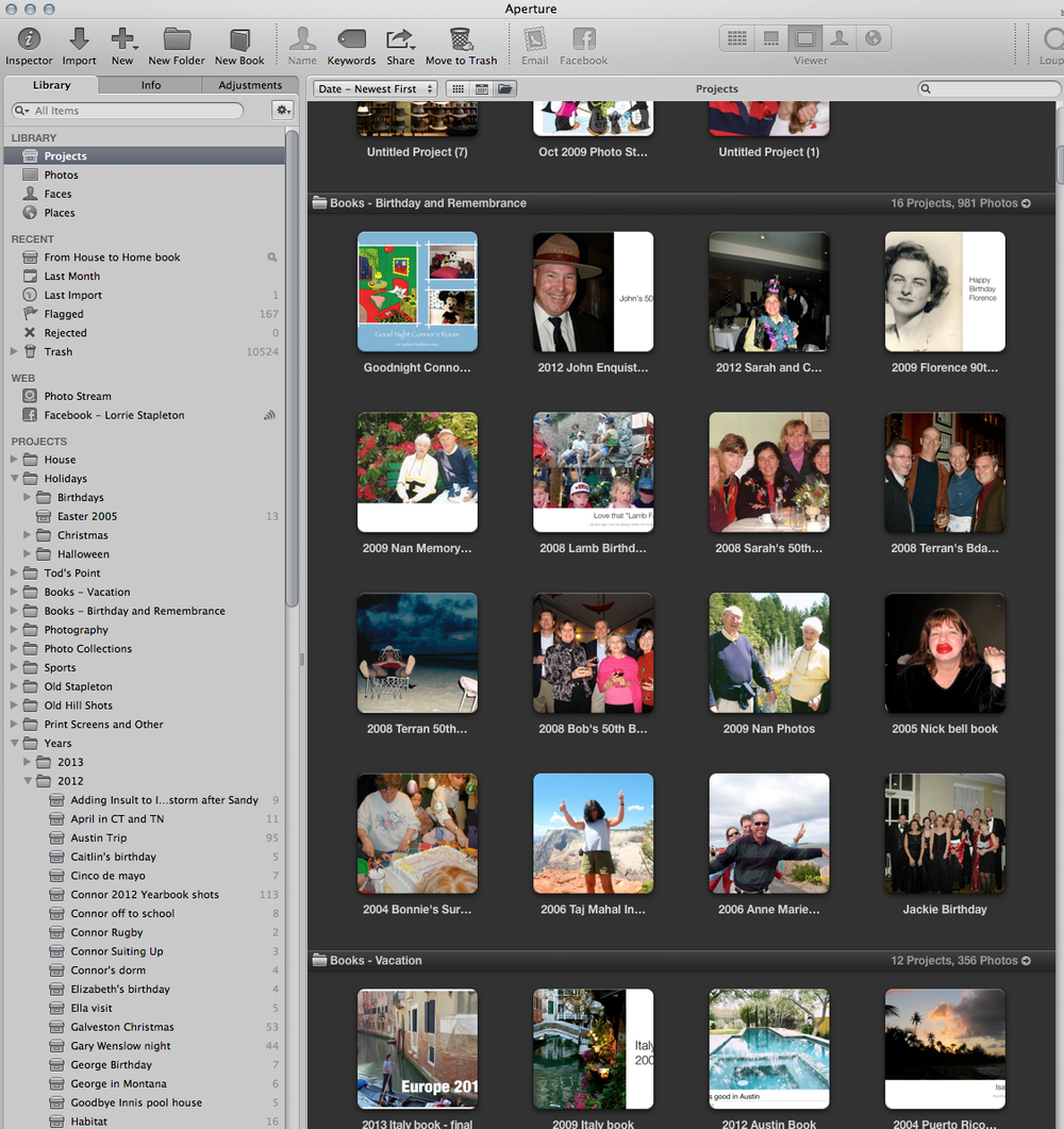 My Aperture photo library