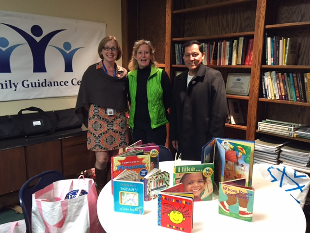 Ann McCarthy, Director of Development and Communications with Lorrie Stapleton and Julio Reinoso of Books4Everyone