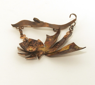 Brooch - Stormy- inspired by Texas springtime storms