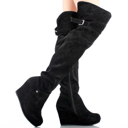 1141-Black-Suede-Buckle-Womens-Platform-Wedge-Heel-Over-The-Knee-Thigh-High-Boots-1.jpg
