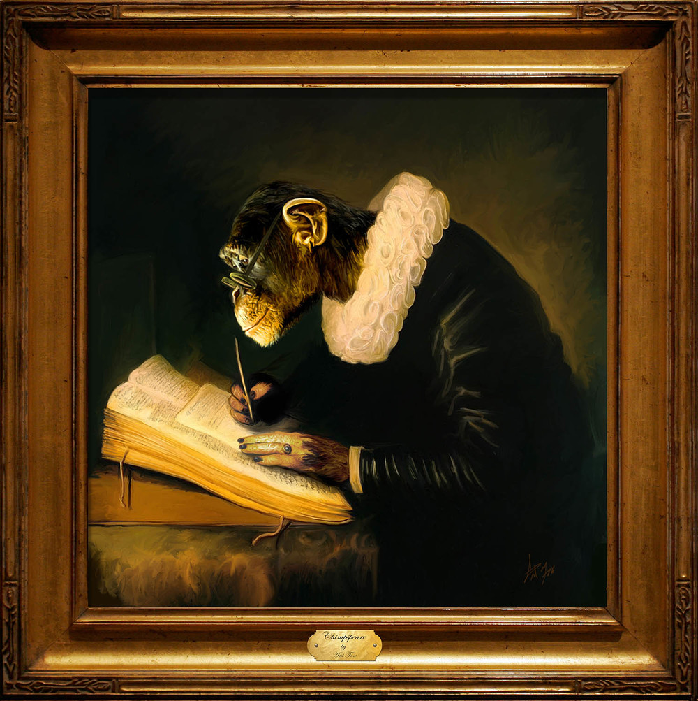 Chimpspeare framed.jpg