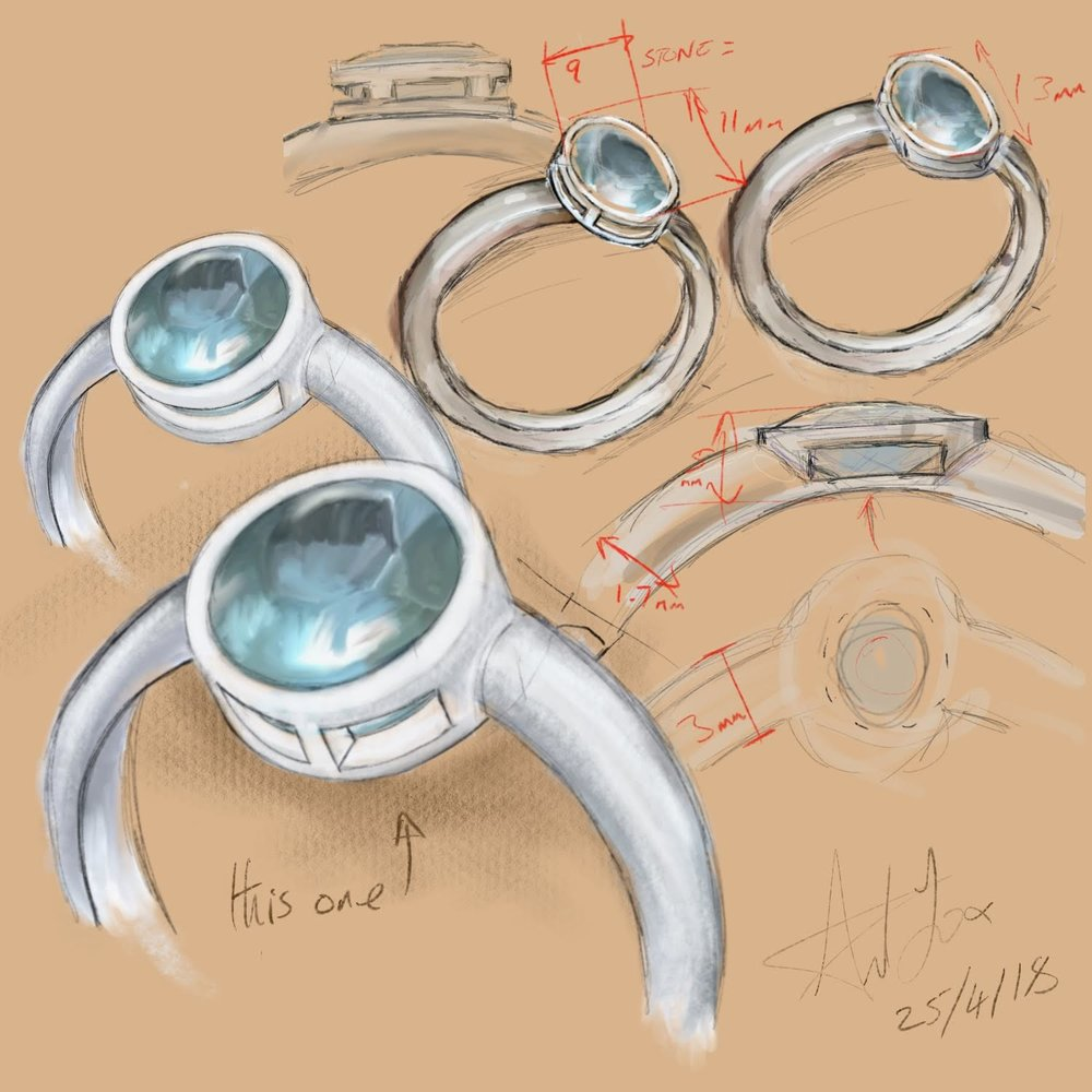 - One day the woman met a man. The man liked the ring very much. Seeing that the woman was worried that one day she might lose the magic baracuda stone, he took the ring and turned it over in his hand. He imagined the stone in a new ring. One of stronger metals and a safer setting.