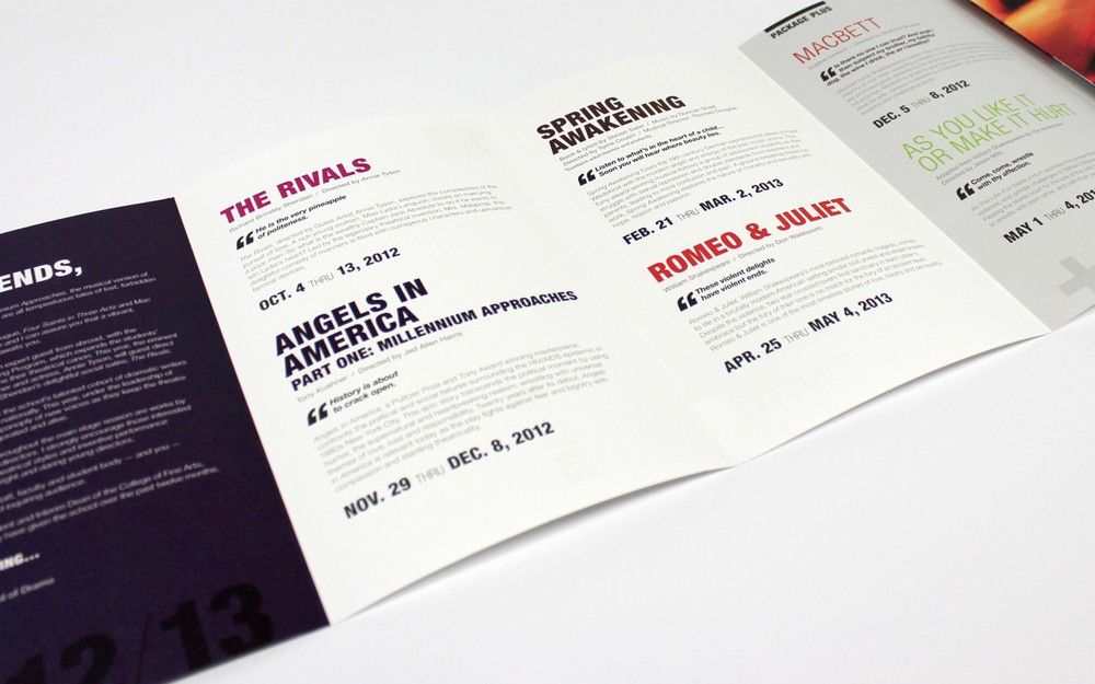 The type treatment has been integrated into the brochure.