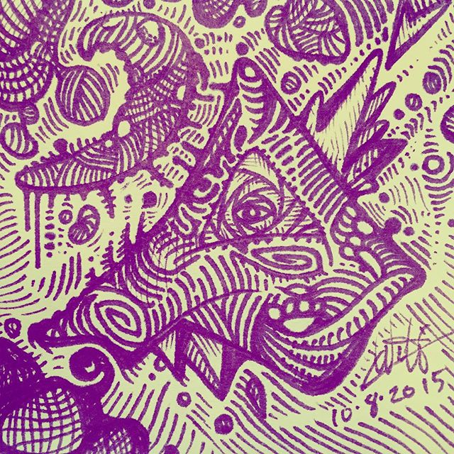 Random doodle for #inktober. www.CaseyWorthing.com