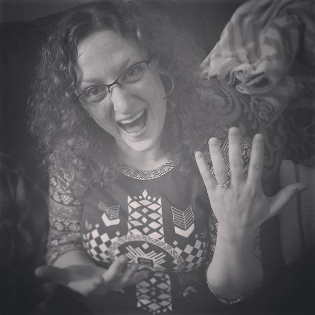 She said Yes!! 💍 #engaged