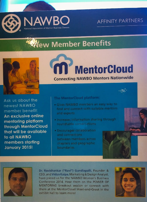 Seen around the conference: NAWBO members have access to the tremendous MentorCloud network!