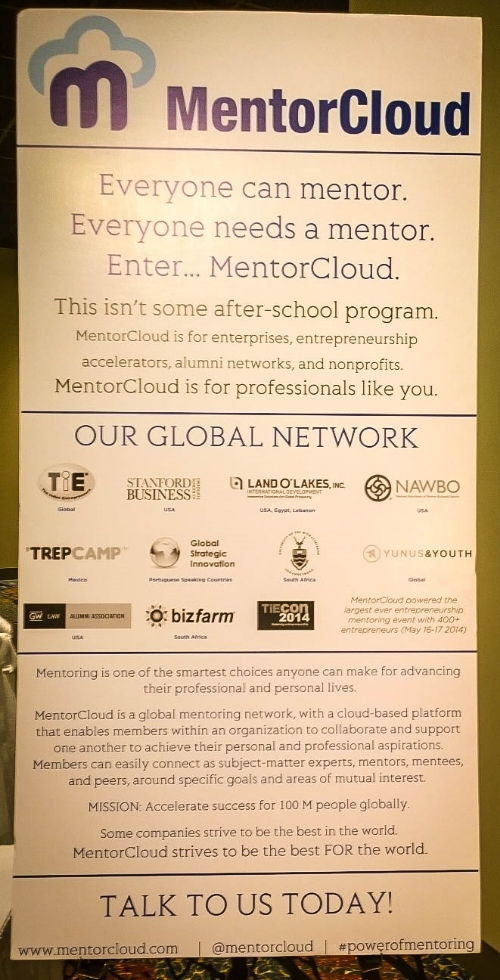 Seen around the conference: Learn more about MentorCloud!