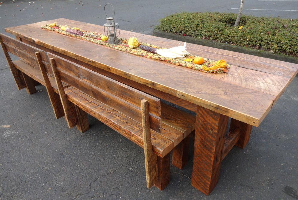 Delightful Reclaimed Wood, Transformed. 11u0027harvest Table.JPG