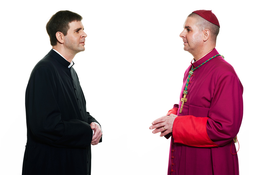Fr. Brad Jones and Bishop Chad Jones