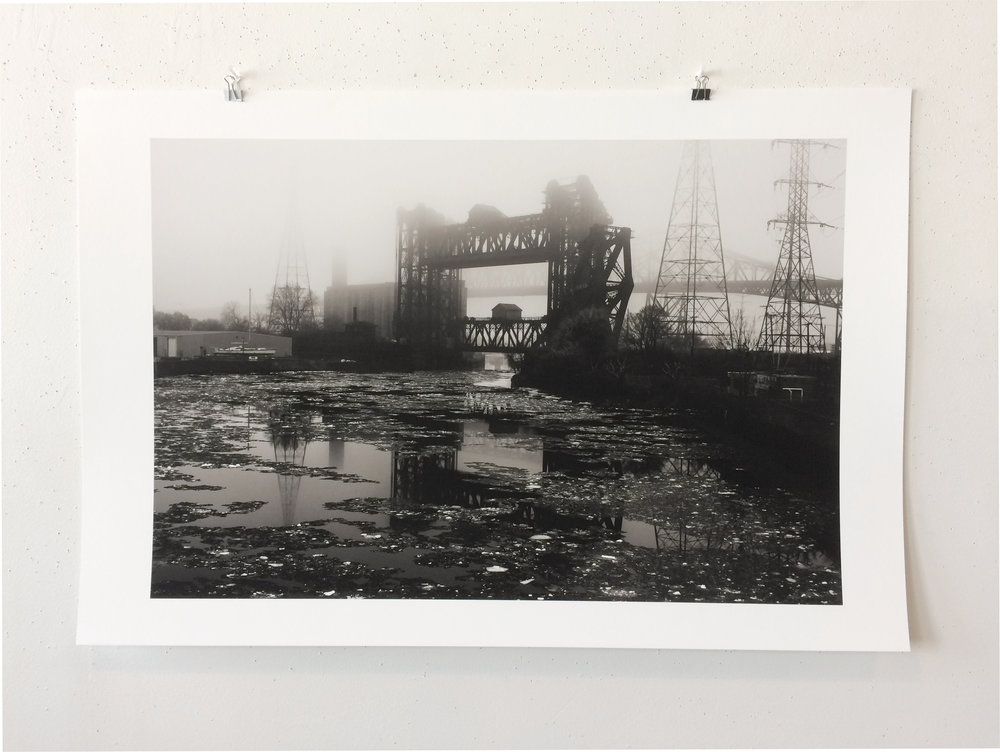 "Printed on Latitude's Piezography PRO printer by David Obermeyer, ""Fog #1, 2017"""