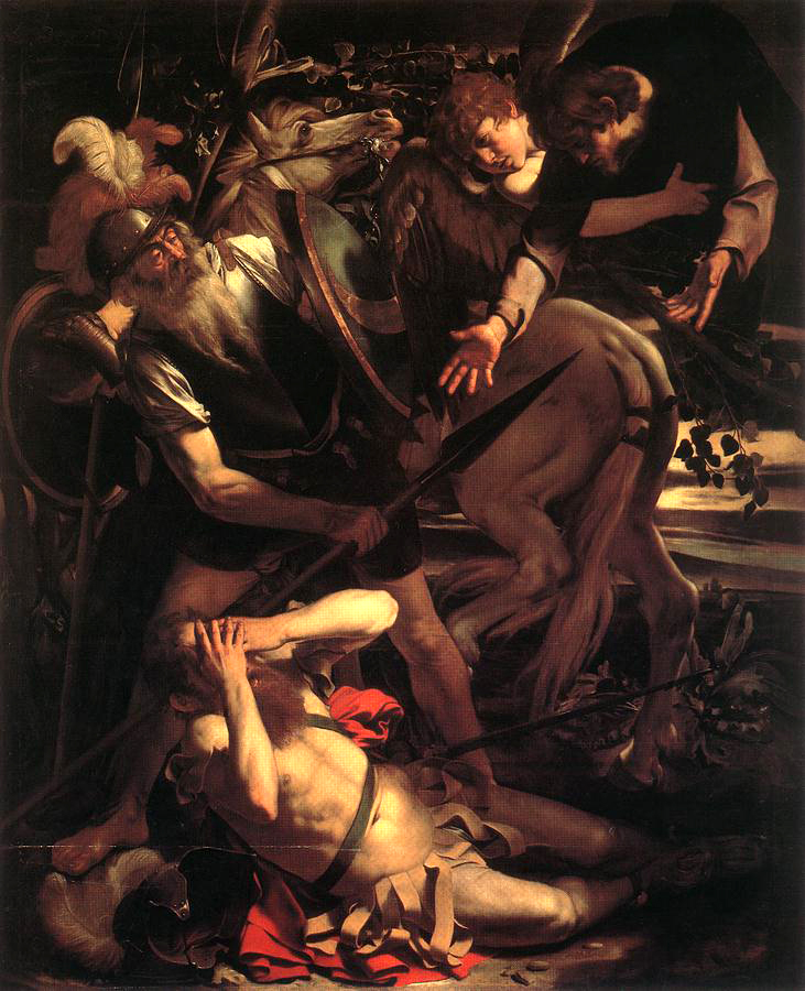 The Conversion of Saint Paul  , a 1600 painting by the Italian artist  Caravaggio .