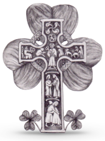 This celtic cross over a shamrock was drawn by Rick Tanner,one of our school parents.