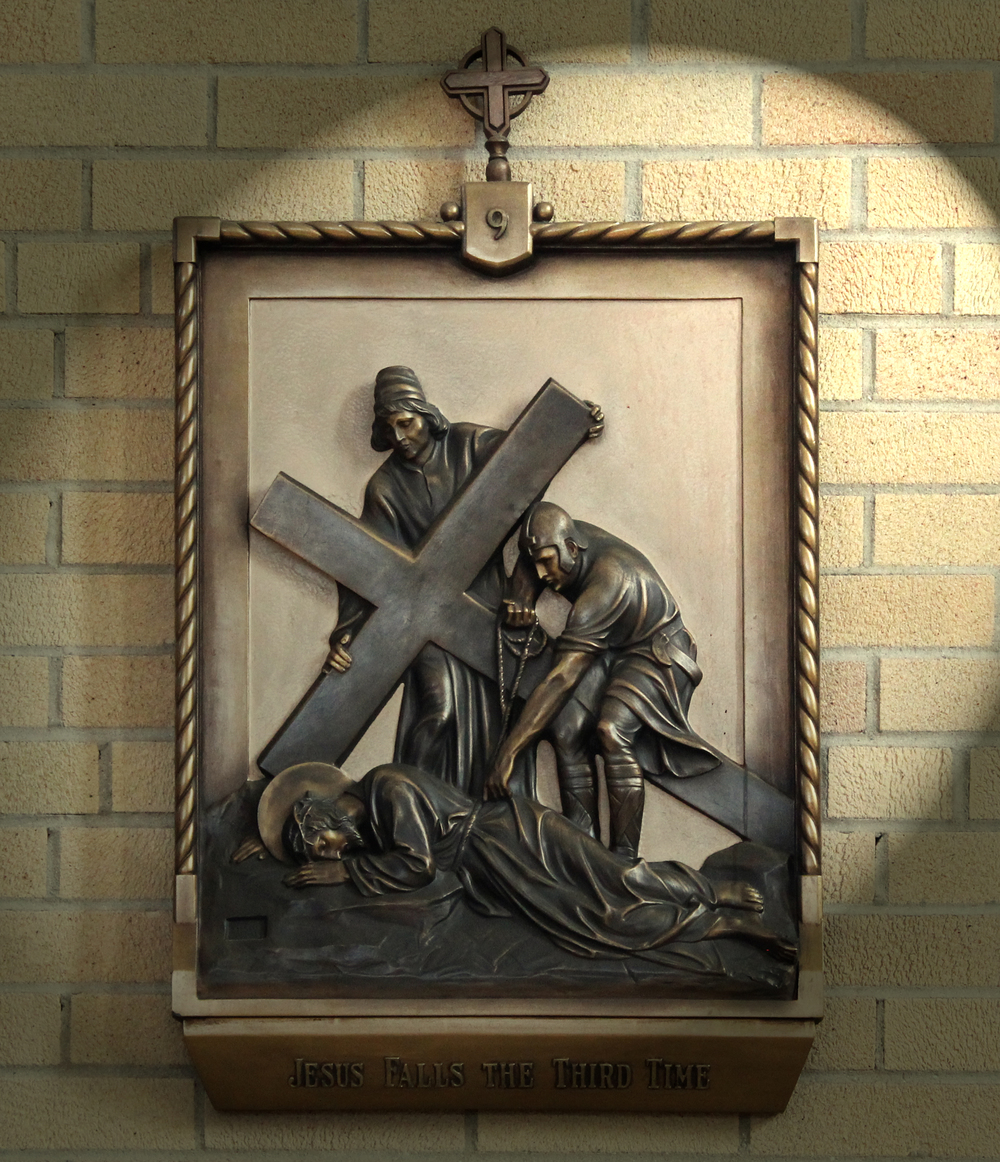 IX Station: Jesus Falls for the Third Time Under the Weight of the Cross CLICK on photo to enlarge