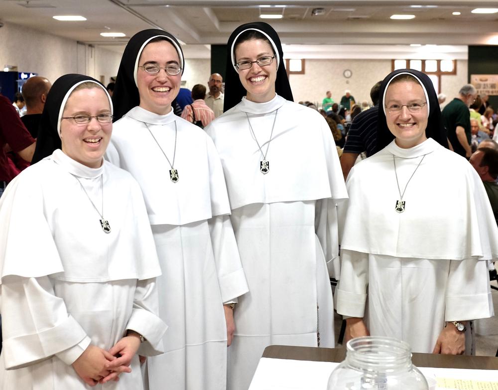 Left to right: Sr. Mary Rita, Sr. Louis Marie, Sr. Maria Suso, and Sr. Mary Regina