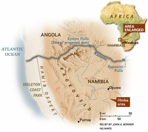 Map image © 2004  National Geographic Society