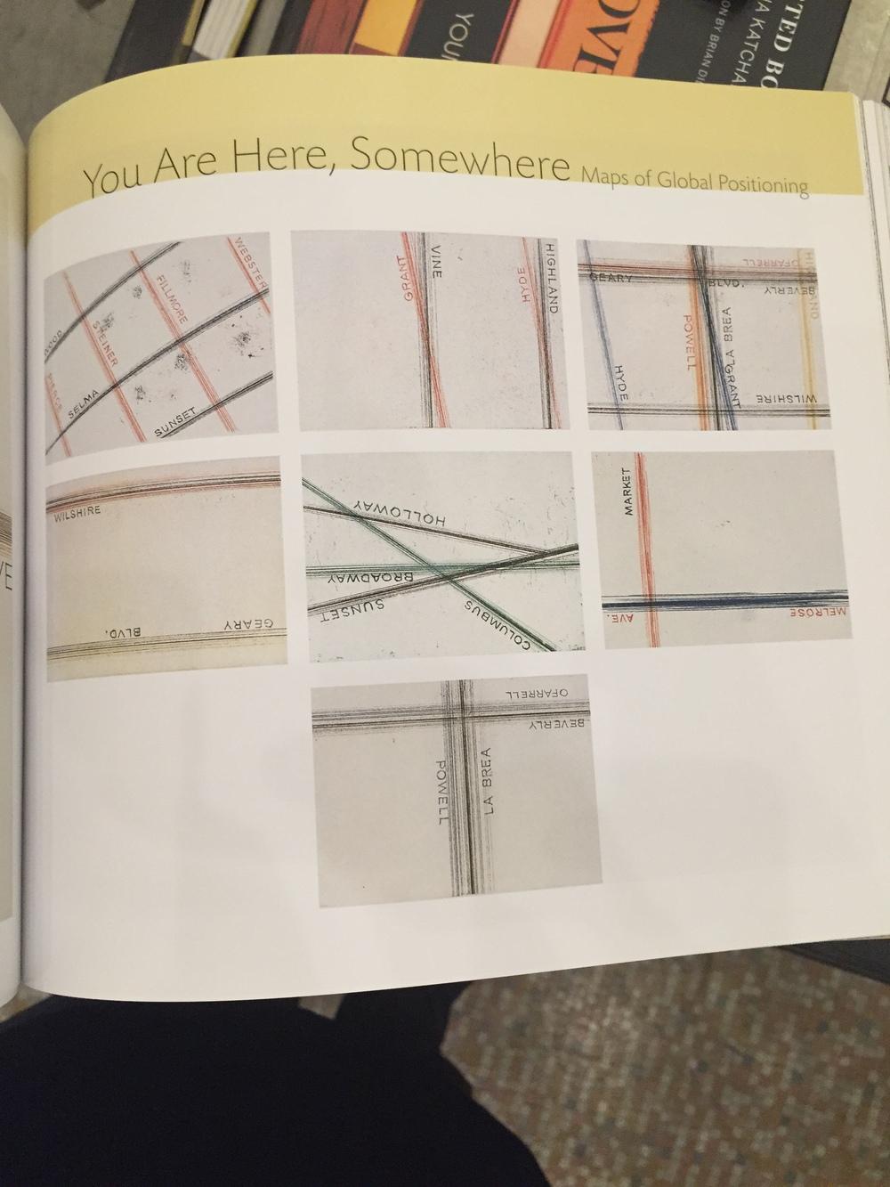 Ed Ruscha maps.