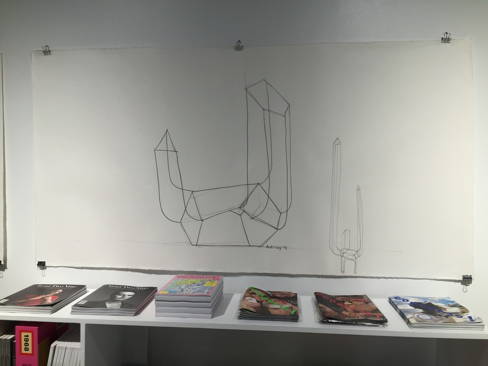 Books and a drawing by Arik Levy at Please Do Not Enter, downtown Los Angeles.